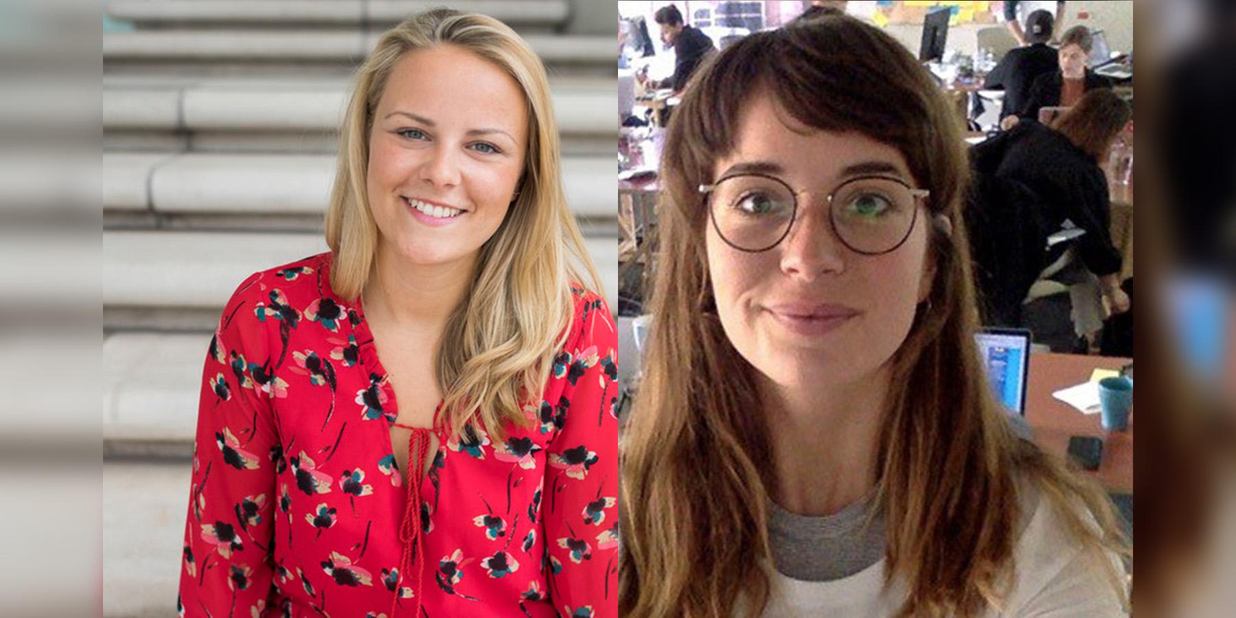 Johanna Röhr und Sabela García Cuesta sind Botschafter für #dasmitmedien.