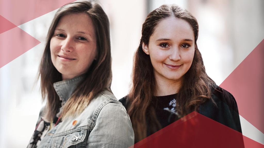 Freuen sich schon auf den Media Innovation Buzz: Imke Weerts (l.) und Mathilde Cabenda (r.)