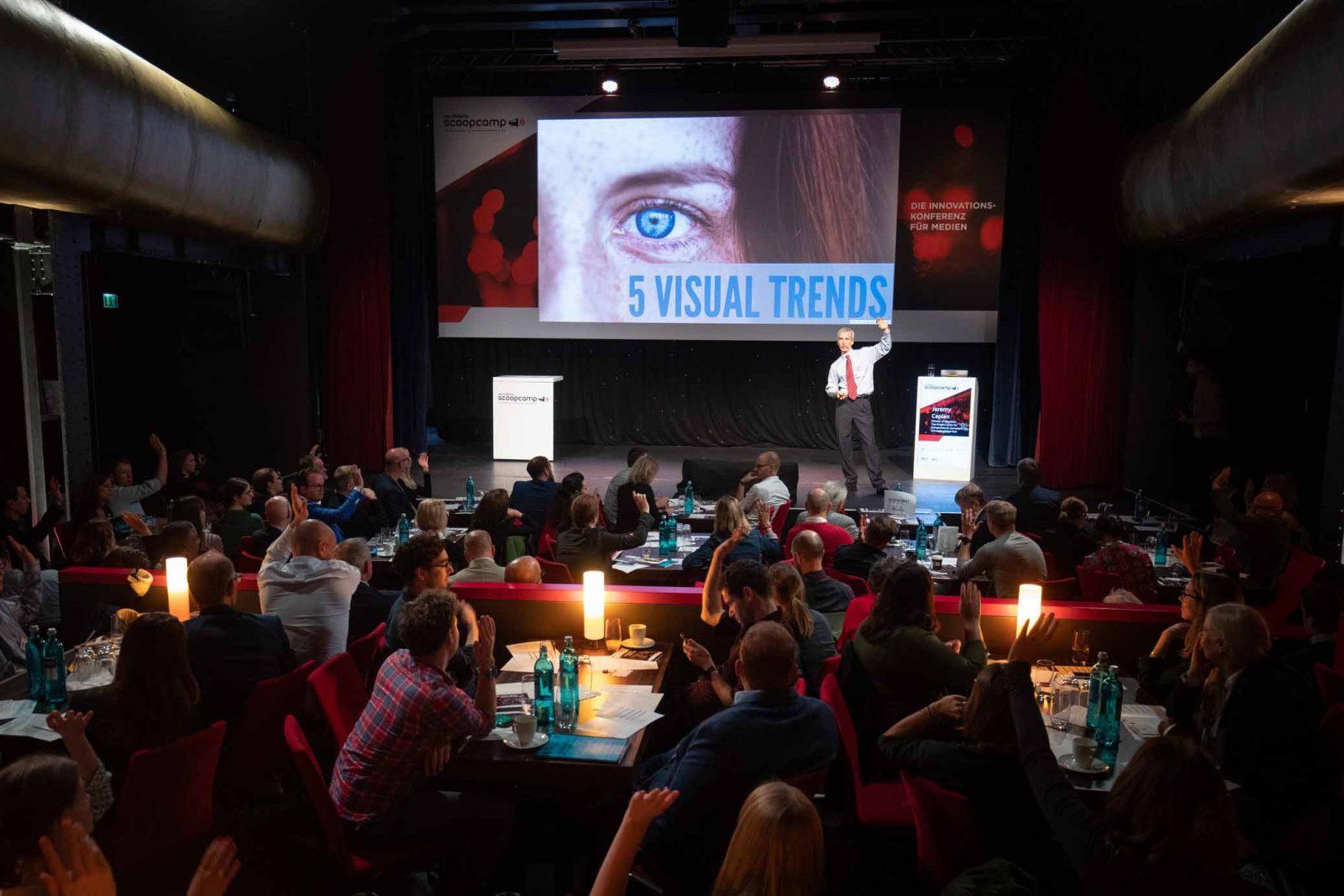 """Innovationskonferenz für Medien """"Scoopcamp"""" am 25.09.2019 im Kehrwieder Theater in Hamburg."""