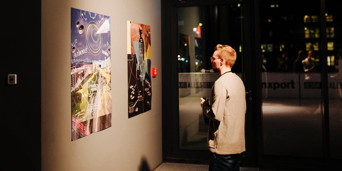Die Ausstellung vom Team Erlebnismobilität richtete den Blick in die ferne Zukunft.