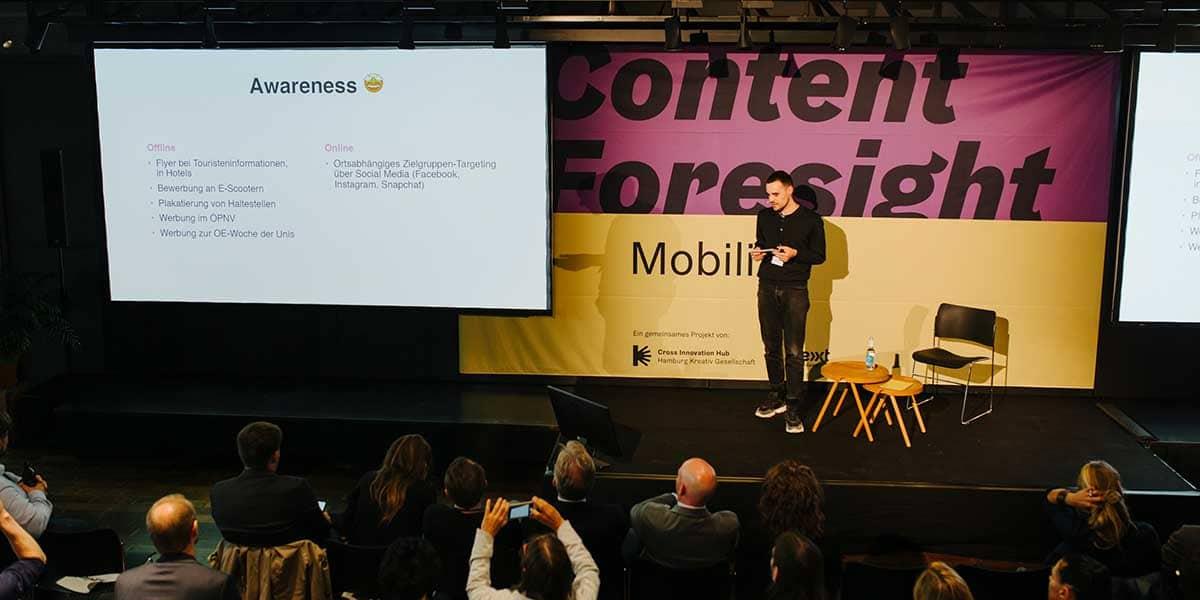Maximilian Gärtner von Schwan Communications stellte die Digital guided tour / HAM vor.