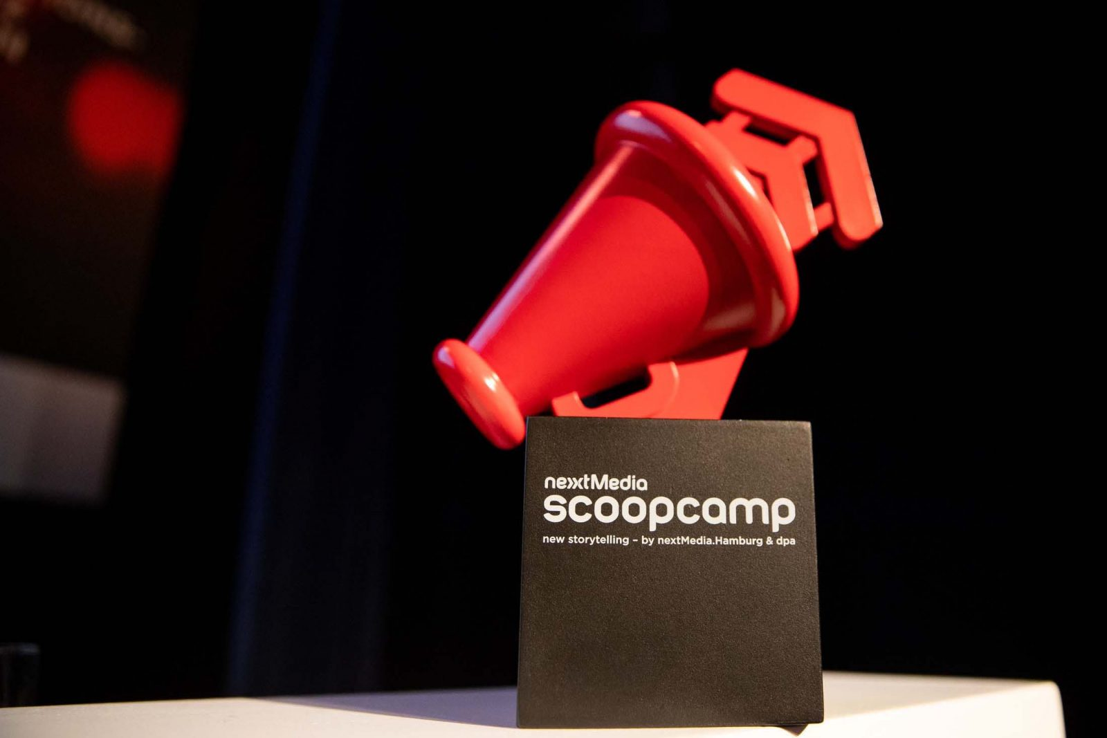 Der scoop Award. Fotocredit: Christian Charisius
