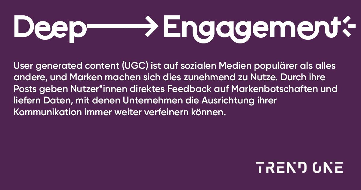 User generated content (UGC) ist auf sozialen Medien populärer als alles andere, und Marken machen sich dies zunehmend zu Nutze. Durch ihre Posts geben Nutzer:innen direktes Feedback auf Markenbotschaften und liefern Daten, mit denen Unternehmen die Ausrichtung ihrer Kommunikation immer weiter verfeinern können.
