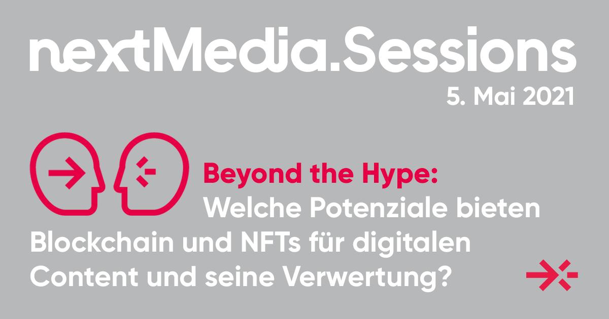 nextMedia.Sessions - Blockchain & NFTs für die Contentbranche
