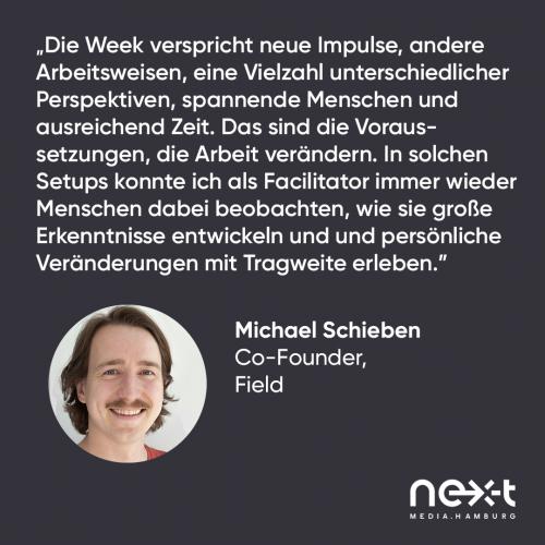 Statement von Michael Schieben, Co-Founder von Product Field Works zur nextMedia.Week