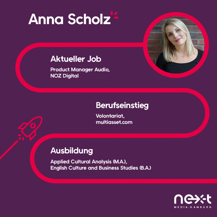 Anna Scholz ist Product Manager Audio bei NOZ Digital