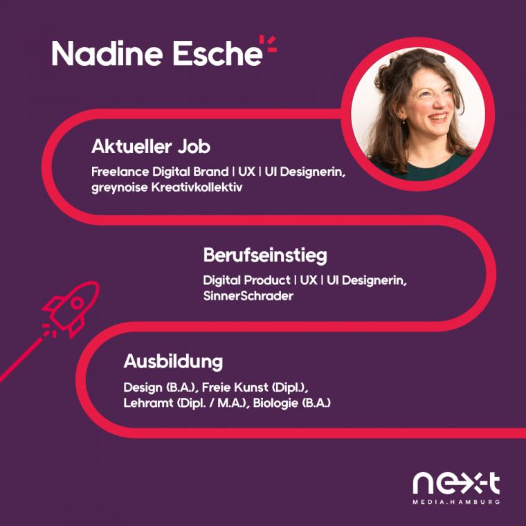 Nadine Esche ist Freelance UX/UI Designerin und Teil des greynoise Kreativkollektivs.